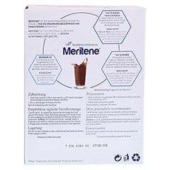 MERITENE Kraft und Vitalität Schokolade Pulver 15x30 Gramm - Rückseite
