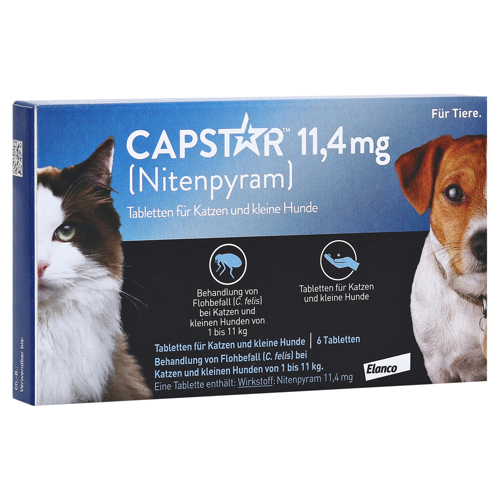 capstar 11 4 mg tabletten f katzen kleine hunde 6 st ck online bestellen medpex versandapotheke. Black Bedroom Furniture Sets. Home Design Ideas