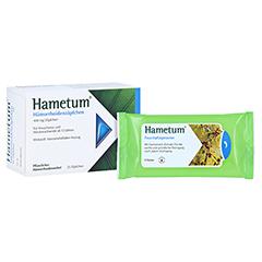 Hametum Hämorrhoidenzäpfchen + gratis Hametum Feuchtpflegetücher 25 Stück N2