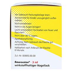 """Amorocutan 50mg/ml + gratis Dermapharm Fuß-Badetabs """"Limette"""" 3 Milliliter N1 - Rechte Seite"""
