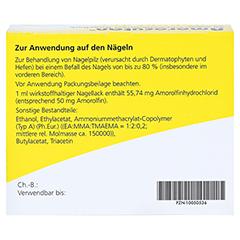 "Amorocutan 50mg/ml + gratis Dermapharm Fuß-Badetabs ""Limette"" 3 Milliliter N1 - Rückseite"