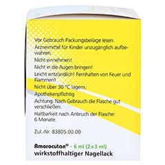 """Amorocutan 50mg/ml + gratis Dermapharm Fuß-Badetabs """"Limette"""" 6 Milliliter N2 - Rechte Seite"""
