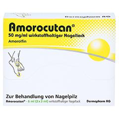 "Amorocutan 50mg/ml + gratis Dermapharm Fuß-Badetabs ""Limette"" 6 Milliliter N2 - Vorderseite"
