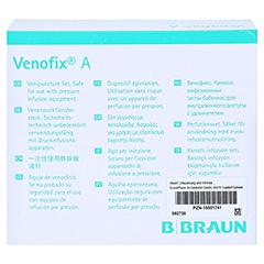 VENOFIX A Venenpunktionsbest.21 G 0,8 mm grün 50 Stück - Rückseite