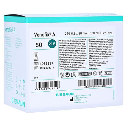 VENOFIX A Venenpunktionsbest.21 G 0,8 mm grün 50 Stück