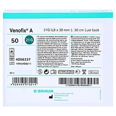 VENOFIX A Venenpunktionsbest.21 G 0,8 mm grün 50 Stück - Vorderseite