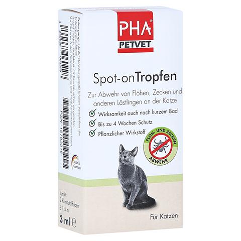 PHA Spot-on Tropfen f.Katzen 2x1.5 Milliliter