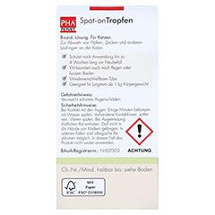 PHA Spot-on Tropfen f.Katzen 2x1.5 Milliliter - Rückseite