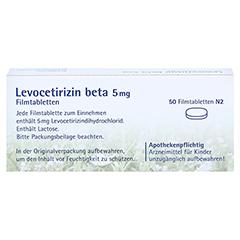 Levocetirizin beta 5mg 50 Stück N2 - Rückseite