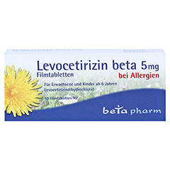 Levocetirizin beta 5mg 50 Stück N2 - Vorderseite