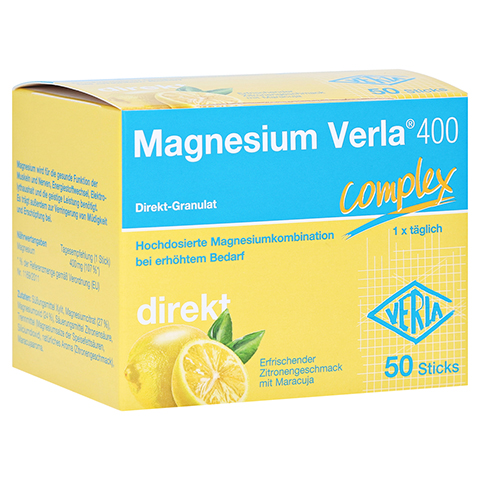 MAGNESIUM VERLA 400 Direkt-Granulat 50 Stück