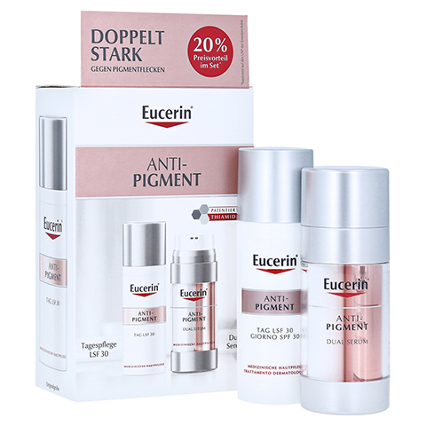 EUCERIN Anti-Pigment Set Dual Serum+Tagespflege 1 Packung