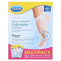 SCHOLL intensiv pflegende Fußmaske in Socken 3x2 Stück - Vorderseite