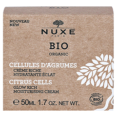 NUXE Bio reichhaltige Feuchtigkeitscreme 50 Milliliter - Rückseite