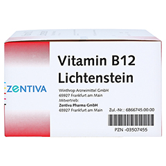 Vitamin B12 1.000 µg Lichtenstein Ampullen 100x1 Milliliter - Linke Seite