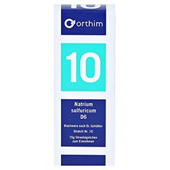 BIOCHEMIE Globuli 10 Natrium sulfuricum D 6 15 Gramm N1 - Vorderseite