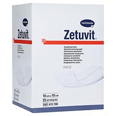 ZETUVIT Saugkompressen steril 10x10 cm CPC 25 Stück