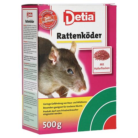 DETIA Rattenköder Warfarin 500 Gramm