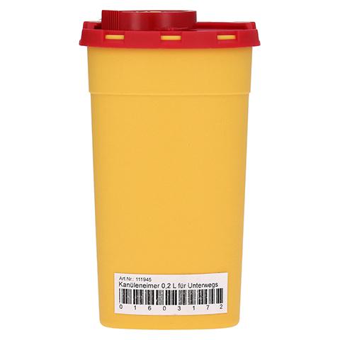 KANÜLENEIMER 0,2 l gelb für unterwegs 1 Stück