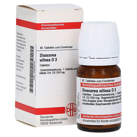 DIOSCOREA VILLOSA D 3 Tabletten 80 Stück N1