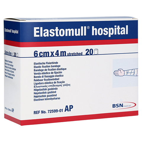 ELASTOMULL hospital 6 cmx4 m elast.Fixierb.weiß 20 Stück