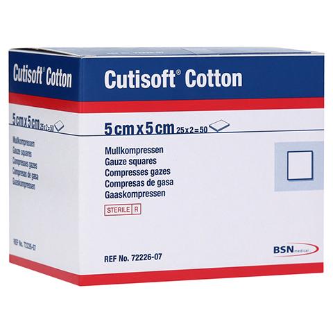 CUTISOFT Cotton Kompr.5x5 cm steril 12fach 25x2 Stück
