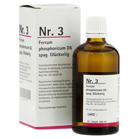 NR.3 Ferrum phosphoricum D 6 spag.Glückselig 100 Milliliter N2