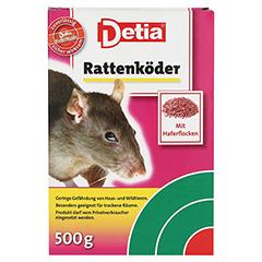 DETIA Rattenköder Warfarin 500 Gramm - Vorderseite
