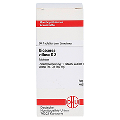 DIOSCOREA VILLOSA D 3 Tabletten 80 Stück N1 - Vorderseite