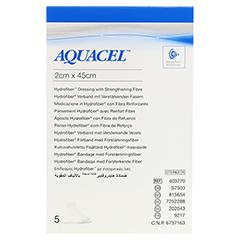 AQUACEL HYDROsorption 2x45 cm Tamponaden 5 Stück - Vorderseite