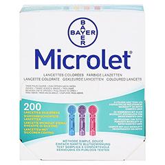 MICROLET Lanzetten farbig 200 Stück - Vorderseite