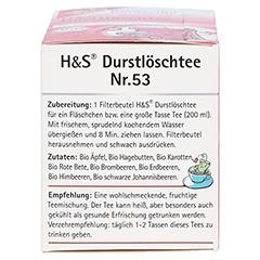 H&S Bio Durstlöschtee Baby- u.Kindertee Filterbtl. 20 Stück - Linke Seite