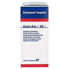 ELASTOMULL hospital 6 cmx4 m elast.Fixierb.weiß 20 Stück - Linke Seite