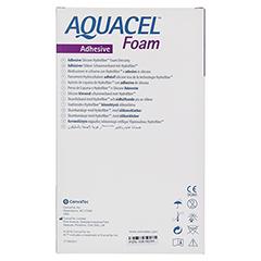 AQUACEL Foam adhäsiv 10x20 cm Verband 5 Stück - Rückseite