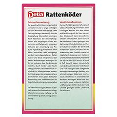 DETIA Rattenköder Warfarin 500 Gramm - Rückseite