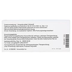 HYPERICUM EX Herba D 12 Ampullen 10x1 Milliliter N1 - Rückseite