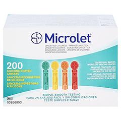MICROLET Lanzetten farbig 200 Stück - Oberseite