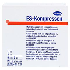 ES-KOMPRESSEN steril 5x5 cm 8fach CPC 25x2 Stück - Oberseite