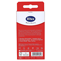 RITEX XXL Kondome 8 Stück - Rückseite