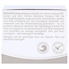 BIOMARIS deep moisture cream ohne Parfum 50 Milliliter - Rechte Seite