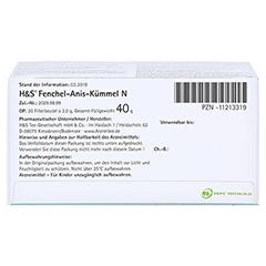 H&S Fenchel-Anis-Kümmel N 20x2.0 Gramm - Unterseite