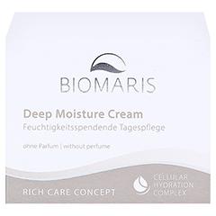 BIOMARIS deep moisture cream ohne Parfum 50 Milliliter - Vorderseite