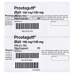 Prostagutt duo 160mg/120mg 200 Stück N3 - Oberseite