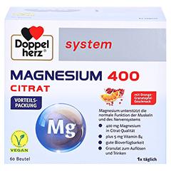 DOPPELHERZ Magnesium 400 Citrat system Granulat 60 Stück - Vorderseite