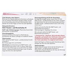 H&S Husten-und Bronchialtee N 20x2.0 Gramm - Rückseite