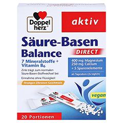 DOPPELHERZ Säure-Basen Balance DIRECT Pellets 20 Stück - Vorderseite