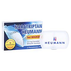 Naratriptan Heumann bei Migräne 2,5mg + gratis Tablettenbox Heumann