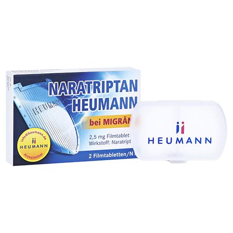 Naratriptan Heumann bei Migräne 2,5mg + gratis Tablettenbox Heumann 2 Stück N1