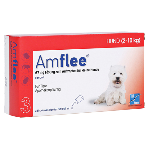 AMFLEE 67 mg Spot-on Lsg.f.kleine Hunde 2-10kg 3 Stück