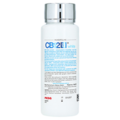 CB12 white Mund Spüllösung 250 Milliliter - Rückseite